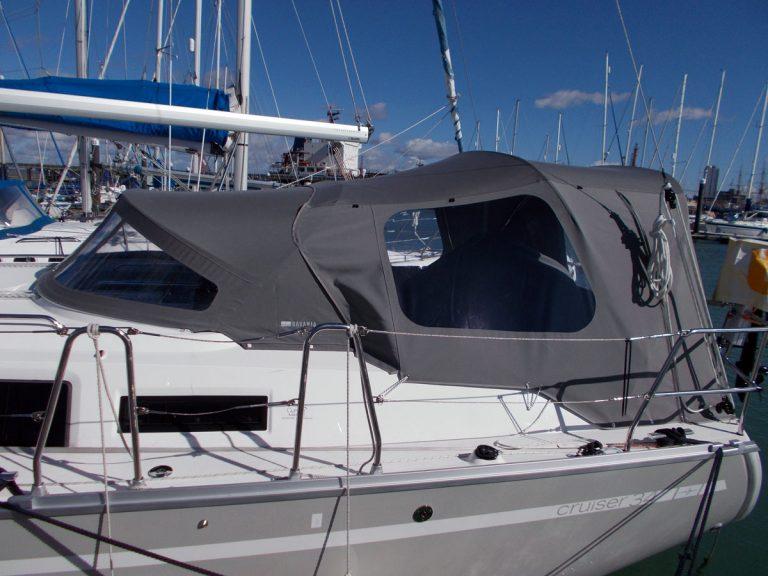 Bavaria Cruiser 34 Cockpit Enclosure to fit FACTORY supplied Sprayhood