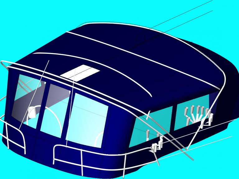 Bavaria 47 Bimini and Bimini Conversion, 3D CAD