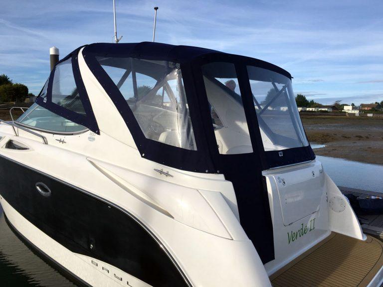 Bayliner 300 Camper Cover, complete redesign with new framework