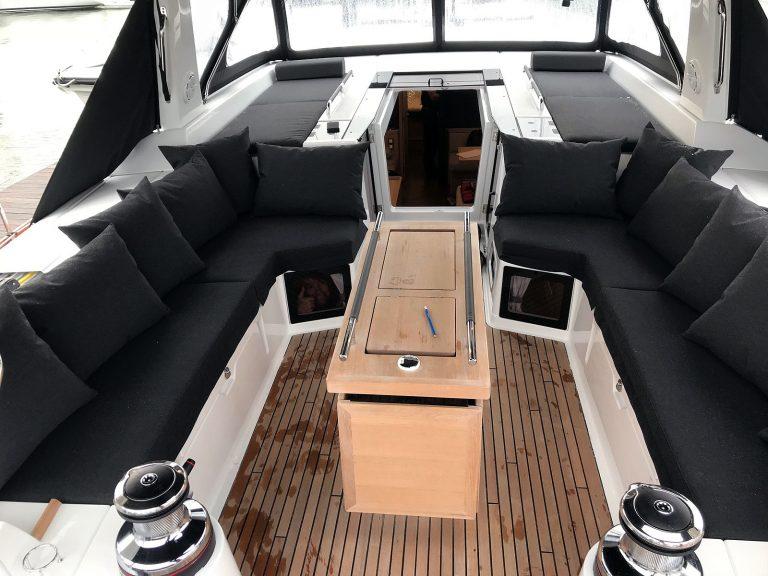 Beneteau Oceanis 55.1 Cockpit Cushions, Companionway Sunbathing Mattresses and Scatter Cushions
