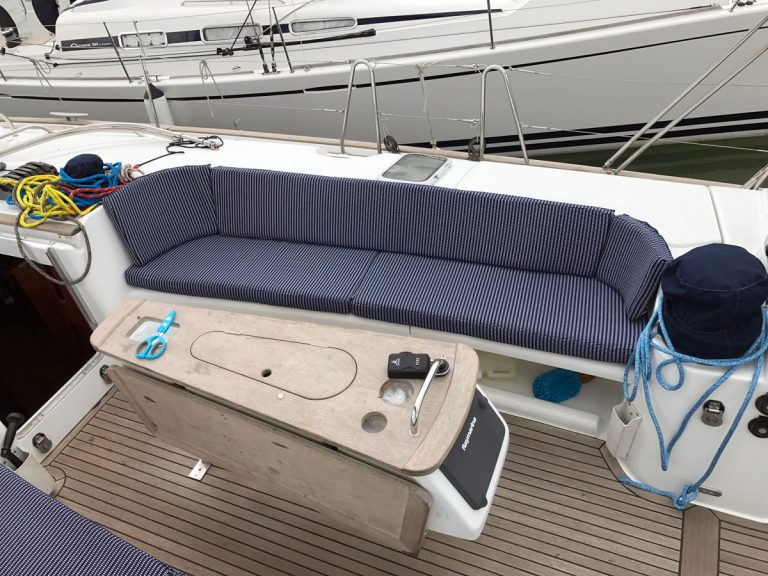 Beneteau Oceanis 523 Cockpit Seat and Back cushions, APRIL DAWN