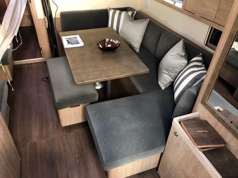 Beneteau Oceanis 45, Internal Saloon Reupholstery