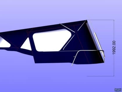bavaria 40 vision cockpit enclosure and sprayhood recover ref 4945 8