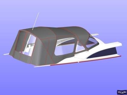 bavaria vision 42 higher design cockpit enclosure 13