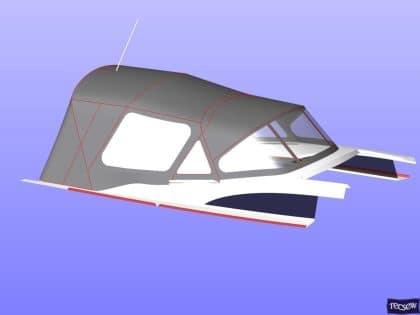 bavaria vision 42 higher design cockpit enclosure 14