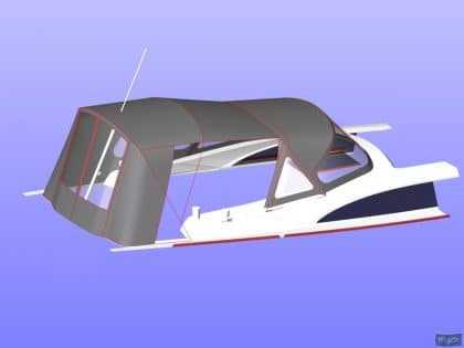 bavaria vision 42 higher design cockpit enclosure 15