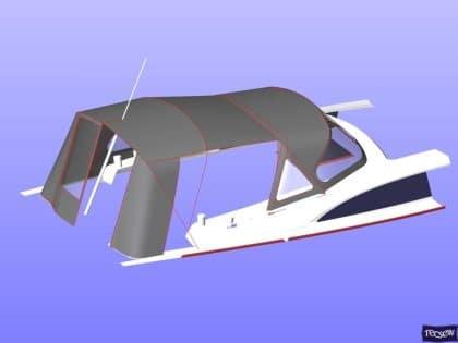 bavaria vision 42 higher design cockpit enclosure 16