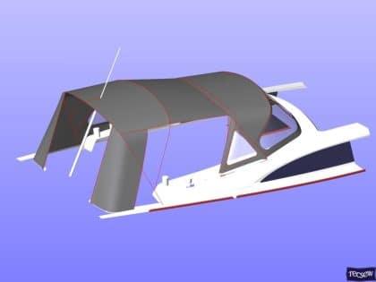 bavaria vision 42 higher design cockpit enclosure 17