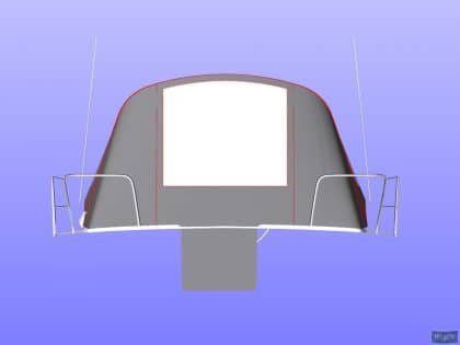 beneteau oceanis 37 cockpit enclosure fitted to factory suppli 21