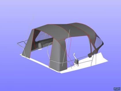 beneteau oceanis 37 cockpit enclosure fitted to factory suppli 25