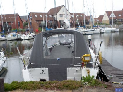 beneteau oceanis 37 cockpit enclosure fitted to factory supplied sprayhood 1