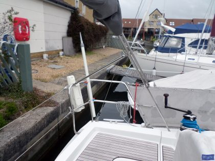beneteau oceanis 37 cockpit enclosure fitted to factory supplied sprayhood 7
