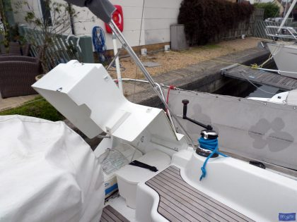 beneteau oceanis 37 cockpit enclosure fitted to factory supplied sprayhood 8