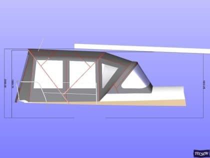 beneteau oceanis 390 bimini sail recut to raise boom 10