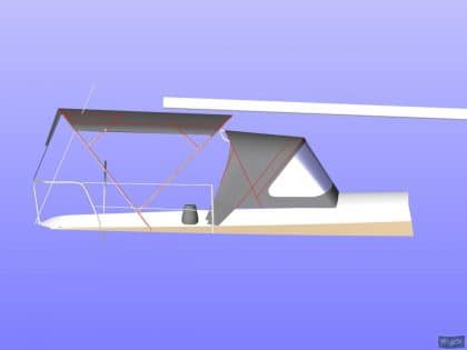 beneteau oceanis 390 bimini sail recut to raise boom 6