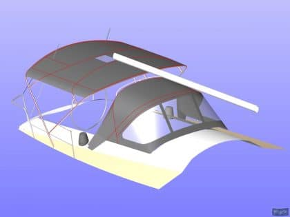 beneteau oceanis 390 bimini sail recut to raise boom 7