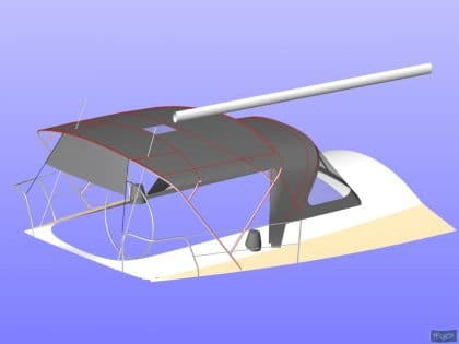 beneteau oceanis 390 bimini sail recut to raise boom 8