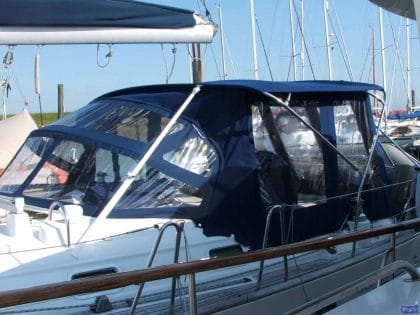beneteau oceanis 411 bimini conversion fitted to new design bimini 1