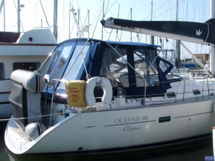 beneteau oceanis 411 bimini conversion fitted to new design bimini 2