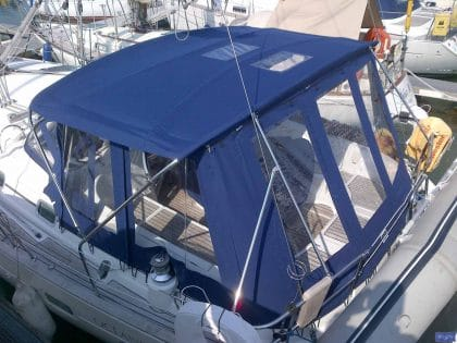 beneteau oceanis 411 bimini conversion fitted to new design bimini 3