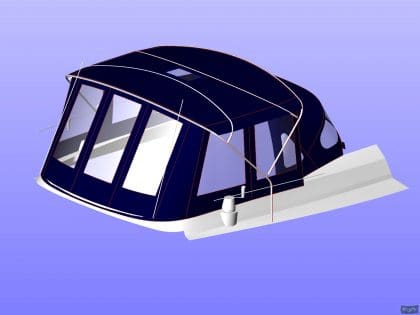 beneteau oceanis 411 bimini conversion fitted to new design bimini 5