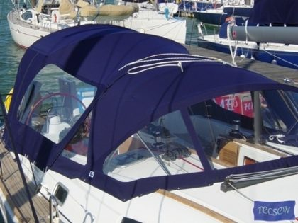 beneteau oceanis 43 cockpit enclosure off tecsew supplied sprayhood 1