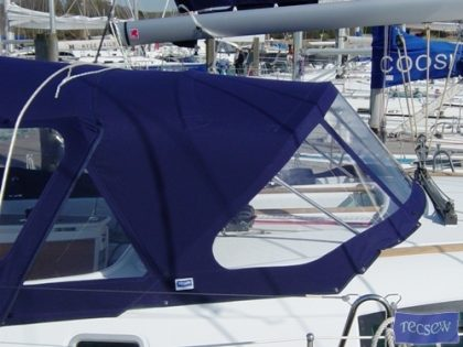 beneteau oceanis 43 cockpit enclosure off tecsew supplied sprayhood 5