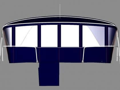 beneteau oceanis 46 bimini conversion to suit tecsew bimini and sprayhood 2
