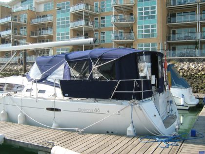 beneteau oceanis 46 bimini conversion to suit tecsew bimini and sprayhood 7