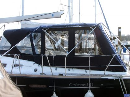 beneteau oceanis 50 2006 model bimini conversion 1