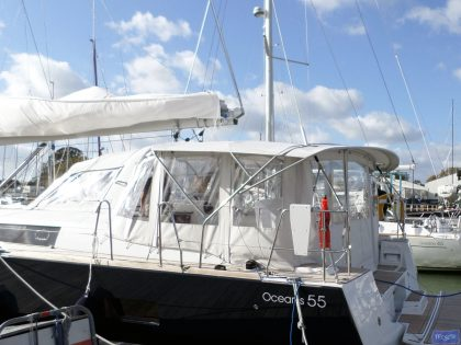 beneteau oceanis 55 bimini conversion fitted to factory bimini 4