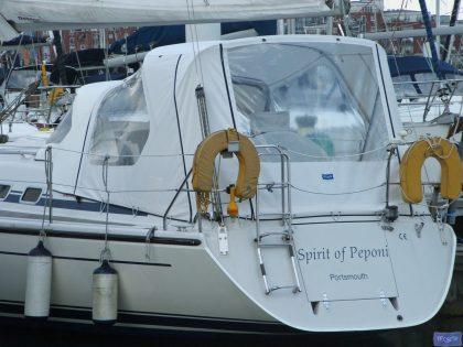 dehler 34 cockpit enclosure fitted to existing sprayhood spirit of peponi 1