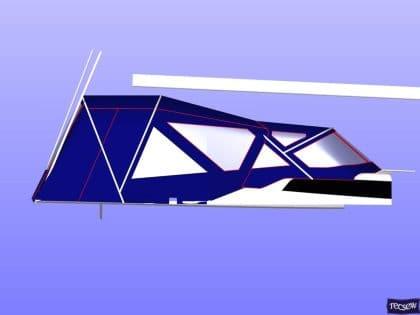 dehler 38 sprayhood with revised window layout 7