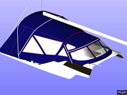 dehler 38 sprayhood with revised window layout 9