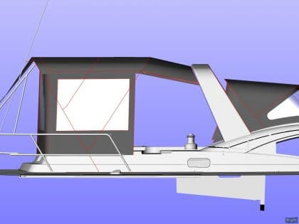 discovery 54 bimini conversion fitted to tecsew bimini 7