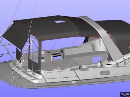 discovery 54 bimini conversion fitted to tecsew bimini ref 8949 11