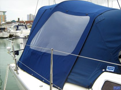 dufour 385 cockpit enclosure fitted to tecsew standard sprayhood 5