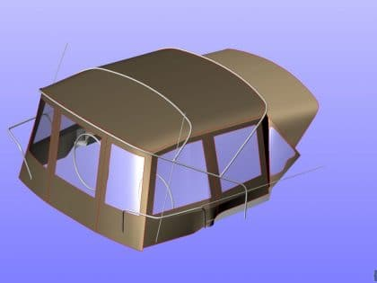 dufour 405 bimini conversion 1