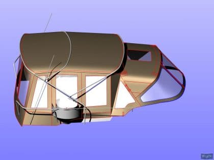 dufour 405 bimini conversion 11