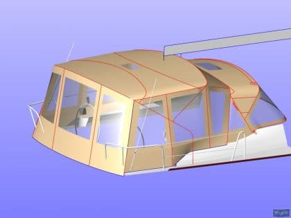 dufour 445 bimini conversion fitted to tecsew supplied bimini 10