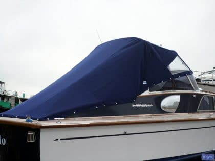 fairey huntsman 31 zip attached tonneau fitted to tecsew sprayhood 3