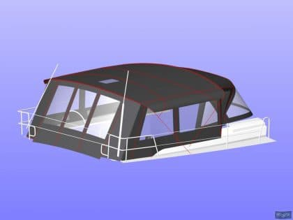 hanse 505 bimini conversion fitted to tecsew standard bimini 11