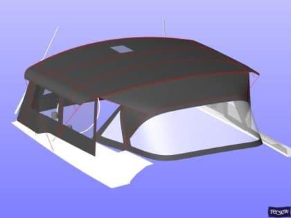 hanse 505 bimini conversion fitted to tecsew standard bimini 13