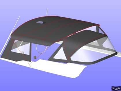 hanse 505 bimini conversion fitted to tecsew standard bimini 15