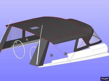 hanse 505 bimini conversion fitted to tecsew standard bimini 16