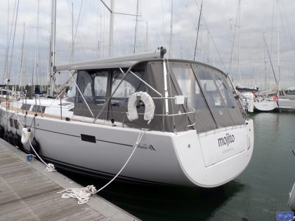 hanse 505 bimini conversion fitted to tecsew standard bimini 3