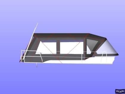 hanse 505 bimini conversion fitted to tecsew standard bimini 7