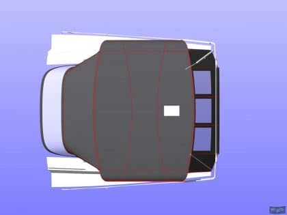 hanse 505 bimini conversion fitted to tecsew standard bimini 9