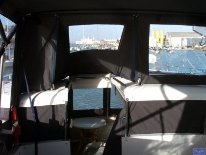 hi star 48 flybridge bimini and bimini conversion 5