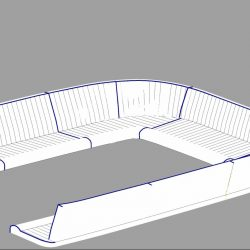 Beneteau 57 Cockpit seat and back Cushions, fluted_1